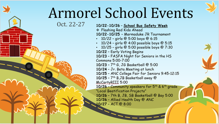 Oct. 22-27 Events