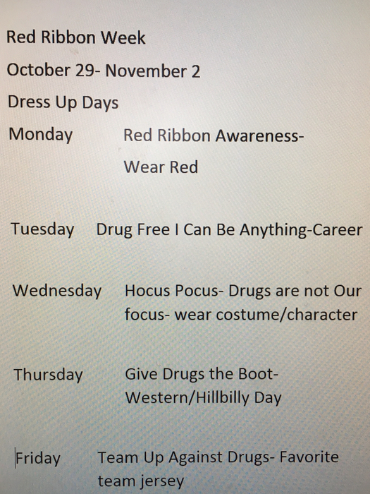 High School Red Ribbon Week