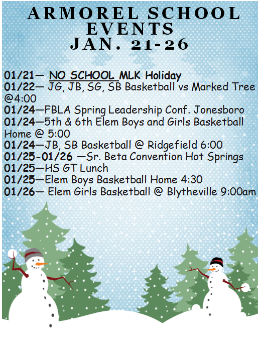 Jan. 21-26 Events