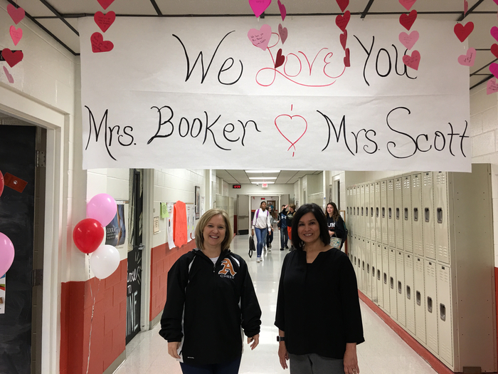 Mrs booker and Mrs scott