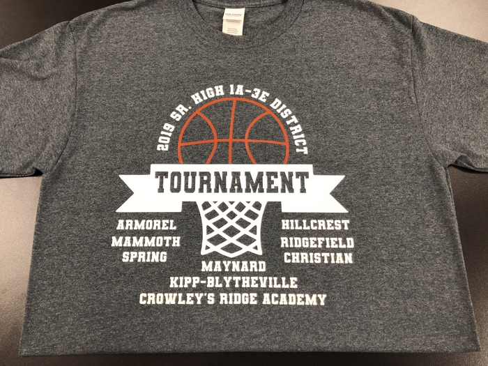2019 District Tournament Shirts