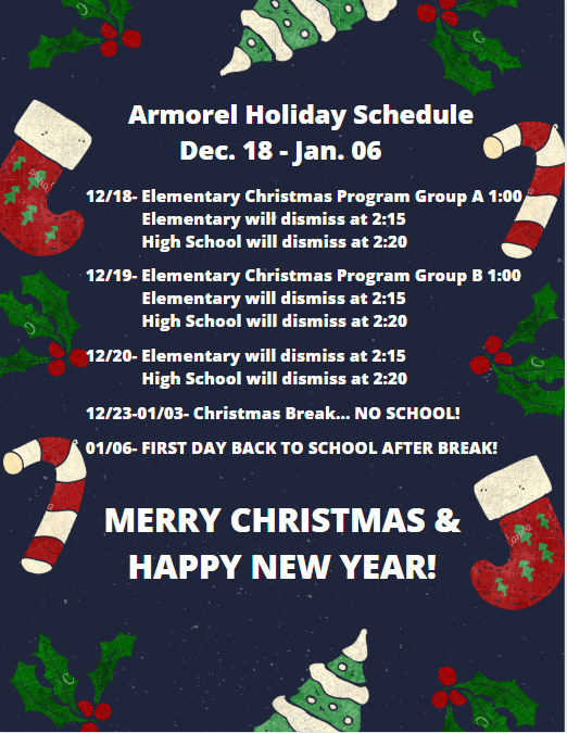 holiday sched