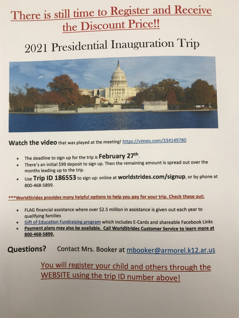 Still time to Register for the 2021 Inauguration Trip!